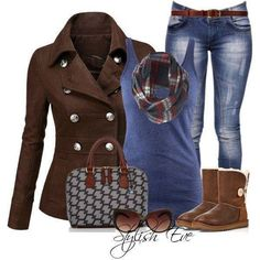 I love the brown in this outfit