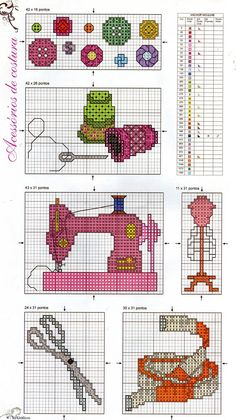 Ponto Cruz da Drayzinha: Graficos minimotivos diversos