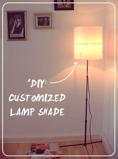 customized lamp shade #DIY