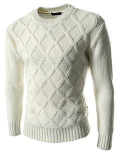 (SG23-WHITE) Slim Fit Knit Sweater Round Neck Long Sleeve Tshirts