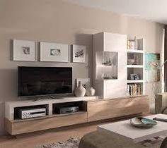 Resultado de imagen Tv Unit, Flat Screen, Architecture, Furniture, Home Decor, Ideas, Dining Room, Yurts, Living Room White