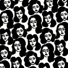 bouffantsandbrokenhearts:  Retro Girls pattern.