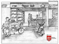 AICT Design Academy offers Specialized Coaching and Study Material for NATA and JEE-Arch Entrance Exam in Pimpri, Chinchwad, Akurdi, Nigdi and PCMC Perspective Drawing Lessons, Perspective Art, Human Figure Sketches, Figure Sketching, Art Drawings Sketches, Easy Drawings, Pencil Drawings, Composition Drawing, Drawing Competition