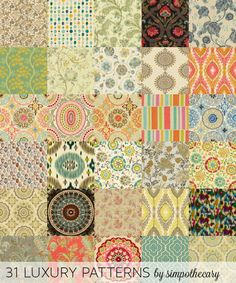 31 luxury patterns by Simpothecary - Sims 3 Downloads CC Caboodle