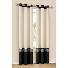 Black White Color Block Curtain Living Room From Cid 214117 21 99 Curtains