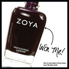 The Nail Files is at it again! They're giving away this Lovely Zoya Casey once they hit 3150 followers on facebook. Easy to enter...go check it out! https://www.facebook.com/the.nail.files