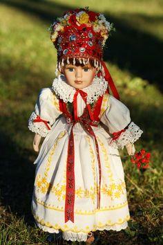 Panenka v kroji- hanácká nevěsta Hana, Traditional Outfits, Harajuku, Costumes, Czech Republic, Clothes, Folk, Target, Dresses