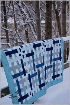 Quilt called Frost Quilt Block Patterns, Pattern Blocks, Quilt Blocks, One Color, Monochrome, Color Schemes, Sewing Projects, Quilting, Blue And White