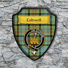 Caldwell Plaque with Scottish Clan Badge on Clan Tartan Background by YourCustomStuff on Etsy https://www.etsy.com/listing/263636593/caldwell-plaque-with-scottish-clan-badge