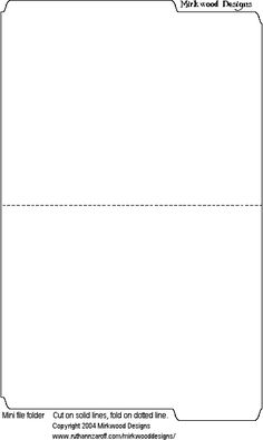 MINI MANILLA FILE FOLDER TEMPLATE minifolder.gif 384×644 pixels