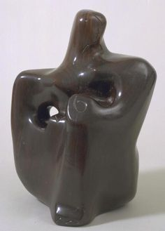 """""""Seated Figure"""" Dame Barbara Hepworth, A seated figure in an abstract, organic form. Barbara Hepworth, Henry Moore, Leeds, Modern Sculpture, Sculpture Art, Royal College Of Art, Organic Form, London Art, Stone Carving"""