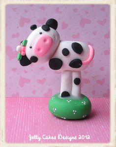 *POLYMER CLAY ~ little cow by Jelly Lane Designs, via Flickr
