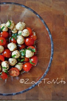 I know there are a lot of food purists out there who will say this is a travesty; the bastardization of the Caprese Salad. Yes, there is balsamic vinegar which some say you would never find on a C...