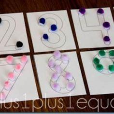 Pom Pom Numbers {Preschool}