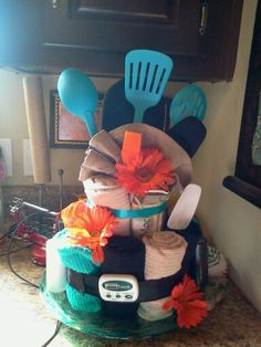 How To Make A Kitchen Towel Wedding Cake