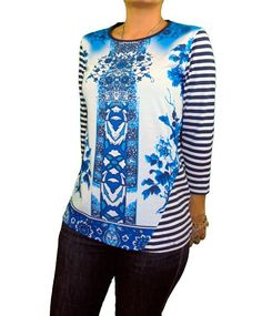 Camiseta rayas estampado azul  camiseta  moda  moda mujer  tienda  tienda  online c6e67e0c8cb76