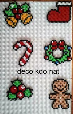 Christmas tree ornaments hama perler beads by Deco.Kdo.Nat