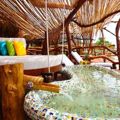 Azulik Tulum, Mexico leisure Resort swimming pool amusement park Water park colorful