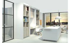 3D visual kastenwand op maat woonkamer door Studio Nest | Идеи для ...