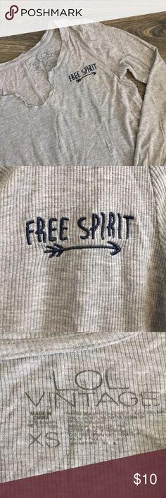 """LOL Vintage """"Free Spirit"""" Long Sleeve LOL Vintage """"Free Spirit"""" long sleeve  Size XS, still in great condition!   ✨Make me an offer!! ✨10% off bundles of 2 or more items! LOL vintage Tops Tees - Long Sleeve"""