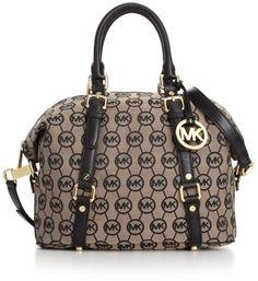 Michael Kors Monogram Bedford Medium Satchel  --- my first designer bag  amazing with this fashion bag! 2015  Michael kors B edford Handbags  Outlet Online shop   #Michael #kors #Bedford #Handbags  #Outlet #Online #shop