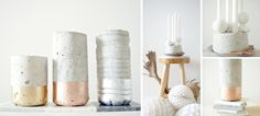 Concrete votives DIY