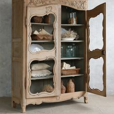 Eloquence One of a Kind Antique Cupboard Trousseau @Layla Grayce