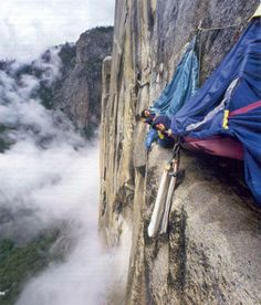 Would you sleep on the side of a ledge like this?