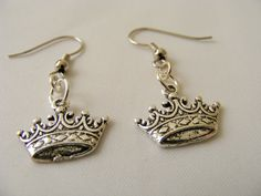 Royal Crown Earrings by erikalashoriginals on Etsy, $5.00