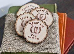 50 Custom Rustic Farm Wedding Horse Shoe Wood by RedCloudBoutique