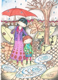 Girl and mother by kindnessworldshop on Etsy