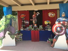 Don't miss this awesome Avengers Bash! A great party theme for Super Hero loving boys! See more party ideas and share yours at CatchMyParty.com
