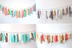 so cute! buy a few yards of different kinds of fabric and make this garland!