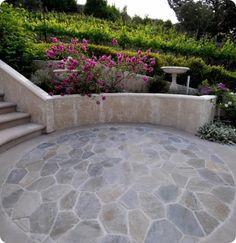 Kates DIY Circular Patio Stones, step-by-step instructions Patio Gazebo, Diy Patio, Diy Pergola, Pergola Kits, Small Covered Patio, Covered Pergola, Small Patio Design, Garden Design, Landscape Design