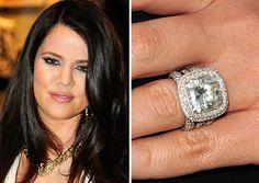 khloe kardashians 125 carat radiant diamond engagement ring khloekardashian celebrityengagementring radiantcutdiamond pinterest khloe kardashian - Khloe Kardashian Wedding Ring