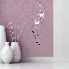 Fly Free Butterfly Mirror Wall Decals | Shop Elettra Womens Trendy Fashion  #wall #art #wallart #home #decor #homedecor #decoration #goods #homegoods #decal #walldecal #mirror #livingroom #inspiration #ideas