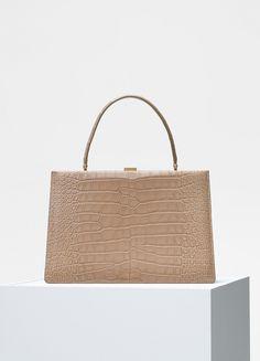 Medium Clasp Bag in Crocodile - Céline 04e14706639f3