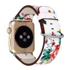 Leather Watch Band for Apple Watch Series 1 Series 2 Series 3 Flower Strap Floral Prints Wrist Watch Bracelet. Suitable for:Apple Watch Series 1 Series 2 Series 3 Material: PU Leather Length of - Length of - Shipping: Free Apple Watch 1, Apple Watch Bands 42mm, Apple Watch Series 2, Bracelet Apple Watch, Apple Watch Wristbands, Watch Necklace, Diy Necklace, Apple Watch Leather Strap, Leather Watch Bands
