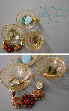 Gilt Polka Dot Jewelry Organizers