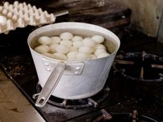 How to Boil Eggs With Baking Soda thumbnail. Tried this yesterday . The shells almost fell off. Great Tip