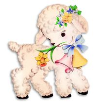 Free Vintage Baby Lamb Clipart