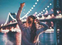 Imagem de light, city, and night