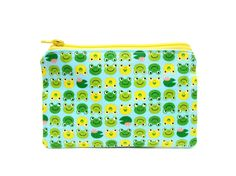 Mini Zipper Pouch / Kawaii Makeup Bag in Frogs and Lillypads on Green. $7.50, via Etsy.