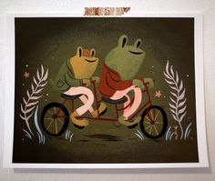 Frog & Toad print by laurengregg on Etsy, $20.00