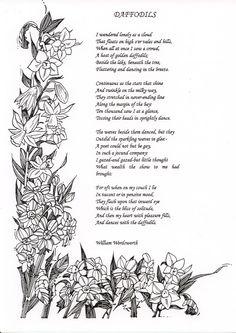 """""""Daffodils"""" by William Wordsworth"""