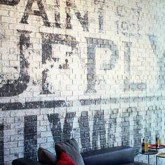 Pulp Art Surfaces produces affordable and eco-friendly dimensional wall skins in paintable/printable brick, stone, cement block and decorative patterns. Faux Brick Wall Panels, Brick Wall Paneling, Painted Brick Walls, Faux Walls, Cement Walls, Painting Cement, D House, Faux Stone, Exposed Brick