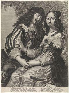 Guilliam de Gheyn   Gevoel, Guilliam de Gheyn, Huart, Anonymous, 1620 - 1650   Een adellijk koppeltje onder een rozenboog. De man heeft de vrouw haar hand vast en leunt naar voren. De vrouw houdt de man zijn bovenarm vast.