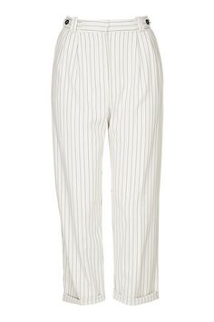Pinstripe Mensy Peg Trousers
