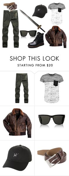 """""""#23"""" by ronnie-555 on Polyvore featuring Boohoo, Yves Saint Laurent, HUF, HUGO, men's fashion and menswear"""