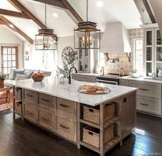 50 Gorgeous Modern Farmhouse Kitchen Cabinets Decor Ideas